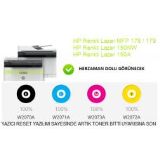 HP Renkli Lazer MFP 178nw, 179fnw Reset