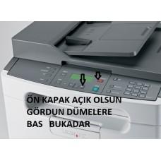 LEXMARK X204N 84 PC KIT ÖMÜR BİTTİ HATASI DÜZELTME